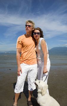 Free Young Couple On The Beach Stock Photo - 3034560