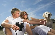 Free Young Couple On The Beach Royalty Free Stock Photography - 3034787