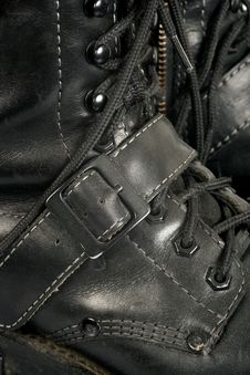 Black Boot Background Royalty Free Stock Image