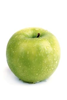 Free Single Green Apple Stock Photo - 3035460