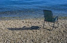 Free Chair On The Shore Stock Photos - 3035813