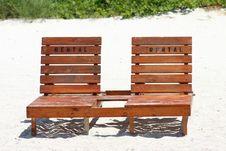 Beach Rental Chairs Stock Photo