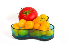 Red And Yellow Tomatoes Royalty Free Stock Photo