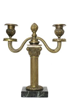 Free Bronze Candlestick Isolated Stock Photo - 3038530