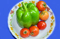 Free Green Capcicum Chilli And Tomato Royalty Free Stock Image - 30300866