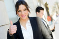 Free Attractive Businesswoman Showing Thumb Up Sign Stock Photography - 30301062