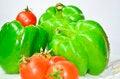 Free Green Capcicum Chilli And Tamato Royalty Free Stock Photos - 30301308