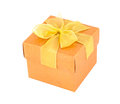 Free Orange Gift Box Royalty Free Stock Images - 30301619