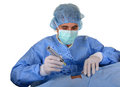 Free Doctor Doing Sterile Procedure Stock Photography - 30306592