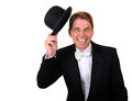 Free Man In Tuxedo With Hat Celebrating Stock Photos - 30308923