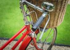 Free A Red Bicycle Royalty Free Stock Photos - 30302478