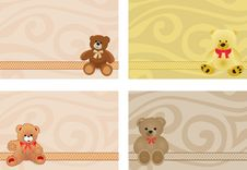Free Card With Bears Royalty Free Stock Photos - 30302968
