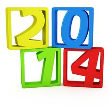 2014 In The Frames Royalty Free Stock Photo