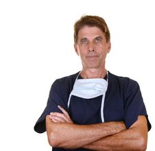 Free Serious Doctor With Arms Crossed Stock Photography - 30308632