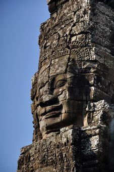 Free The Bayon Khmer Temple At Angkor Wat Stock Photo - 30308950