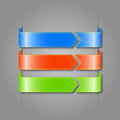 Free Vector Set Of Color Ribbons. Royalty Free Stock Images - 30312329