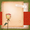 Free Scrapbook Old Paper Background With Dried Rose Stock Image - 30315361