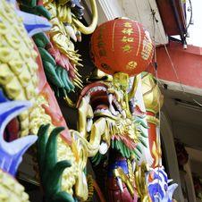Free Chinese Style Dragon Statue Stock Photo - 30310190