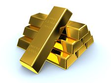 Free Gold Ingots Stock Photography - 30311162