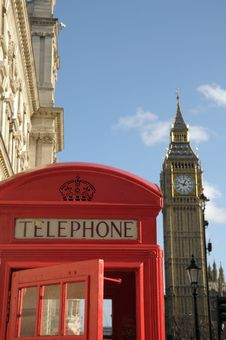 Free Red Telephone Kiosk And Big Ben Stock Image - 30311631