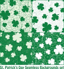 Free Clover Seamless Patterns Royalty Free Stock Photo - 30312195