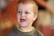 Free Little Boy Laughs Stock Photography - 30314182