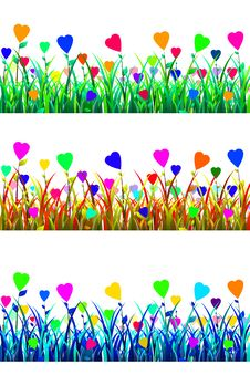 Free Meadow Of Love Stock Image - 30315401