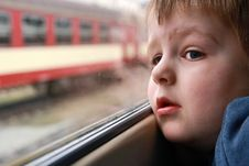 Free Little Boy Looking Out Stock Photo - 30315850