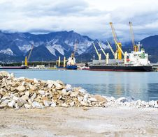 Harbour In Carrara Stock Image