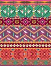 Free Seamless Colorful Aztec Pattern With Birds Royalty Free Stock Photography - 30339327