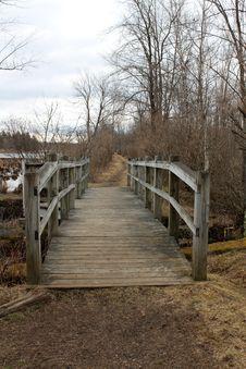 Free Old Wood Bridge Over Marsh Water Stock Photography - 30337712