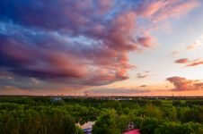 Free Sunset Glow Of Park Stock Photography - 30337862