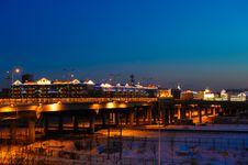 Free Railway Viaduct Of The Night Stock Photo - 30338040