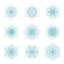 Free Set Of Abstract Flowers Stock Images - 30338964