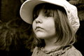 Free Little Girl&x27;s Portrait With The Big Cap Stock Photography - 30349472