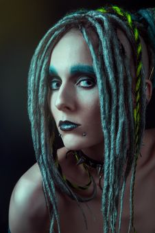 Young Woman With Dreadlocks Royalty Free Stock Photos