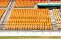 Free Rows Of Empty Plastic Stadium Seats Stock Photo - 30351120