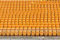 Free Rows Of Empty Plastic Stadium Seats Royalty Free Stock Image - 30351176