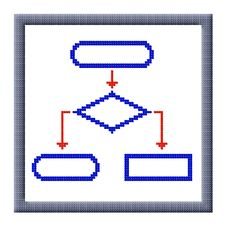 Free Cubes Pixel Image Of Flowchart Icon Royalty Free Stock Photography - 30350467