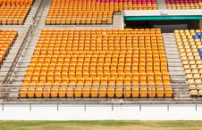 Free Rows Of Empty Plastic Stadium Seats Stock Photo - 30351120