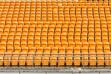 Free Rows Of Empty Plastic Stadium Seats Royalty Free Stock Image - 30351176