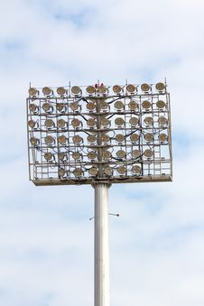 Free Stadium Spot-light Tower Stock Photo - 30351290