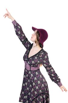 Free Woman Pointing Finger Up Royalty Free Stock Image - 30352986