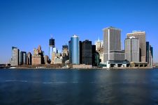 Free Downtown Manhattan And Freedom Tower Royalty Free Stock Image - 30353136