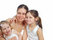 Free Mother With Daughters Isolated On White Royalty Free Stock Image - 30351606