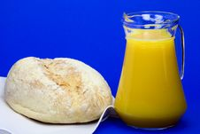 Free White Bread And Jug Of Juice Stock Images - 30362354