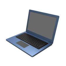 Free Blue Laptop Blank Keyboard Stock Photo - 30363000