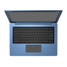 Free Blue Laptop Blank Keyboard Stock Photos - 30363063