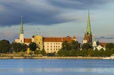 President Palace In Old City Of Riga, Latvia, Europe Royalty Free Stock Photos