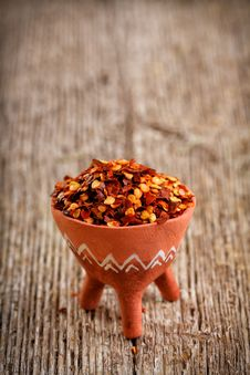 Dried Red Pepper Flakes Stock Images